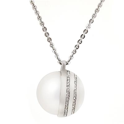 Zirkon Taşlı Modern Bayan Gümüş Kolye DX429