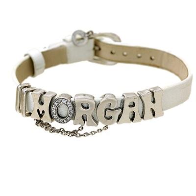 Morgan Marka Beyaz Derili Modern Bayan Gümüş Bileklik DX625