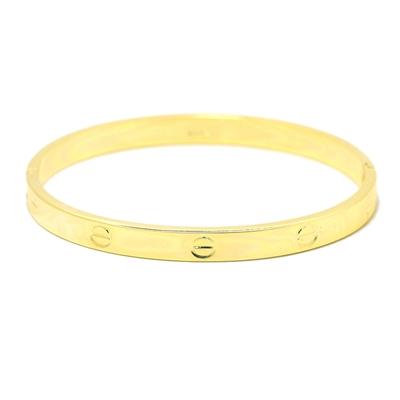Vidalı Model Sarı Altın Modern Bayan Bileklik STJ030