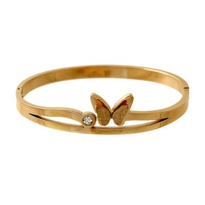 Kelebek Model Rose Gold Modern Bayan Çelik Bileklik AX011