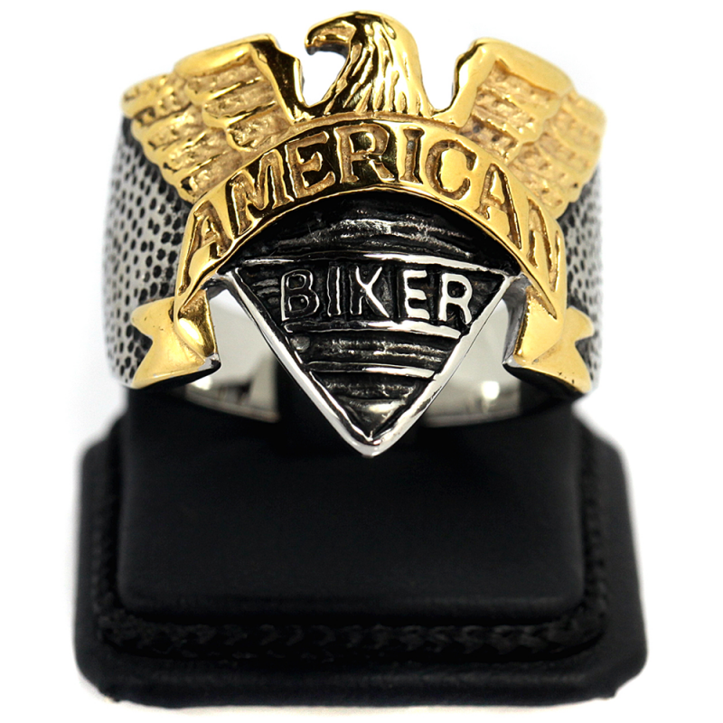 Amerikan Kartalı Model Modern Erkek Çelik Yüzük AX615