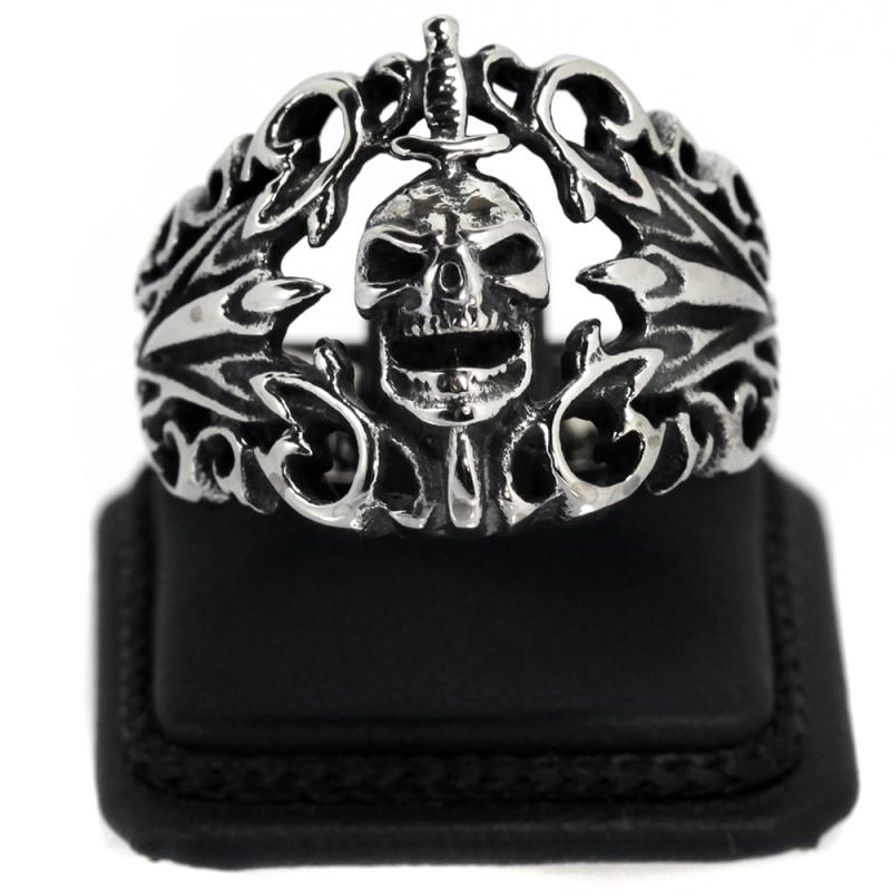 Kurukafa Kılıc Çelik Erkek Yüzük AX524