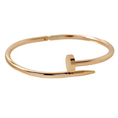 Rose Gold Çivi Model Bayan Çelik Bileklik