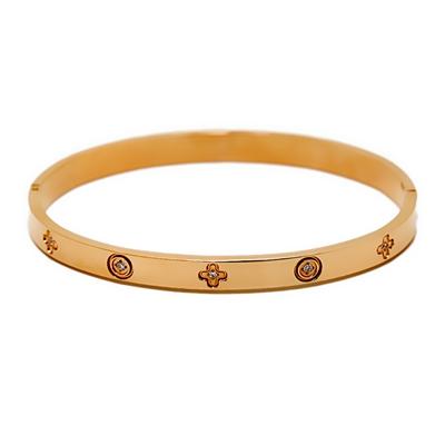 Zirkon Taşlı Rose Gold Modern Bayan Bileklik STJ037