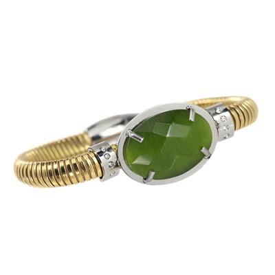 Zirkon Yeşil Taşlı Modern Bayan Bileklik AX234