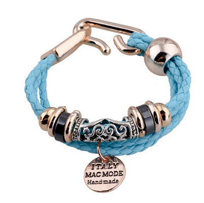 Mavi Deri Rose Gold Trend Bileklik CX232