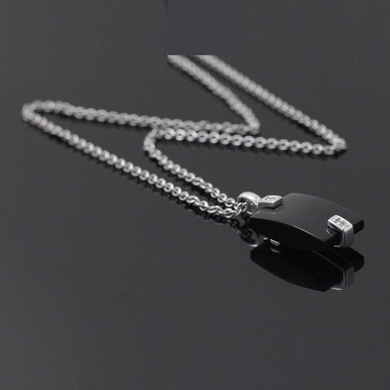 Joop Model Oniks Taşlı Modern Bayan Gümüş Kolye DX679