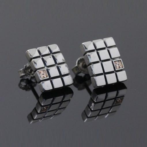 Topaz Taşlı Modern Bayan Gümüş Küpe DX570