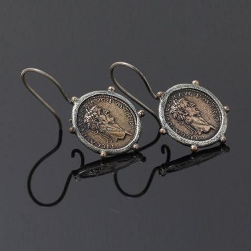 Roma Dönemi Para Model Otantik Bayan Gümüş Küpe DX580
