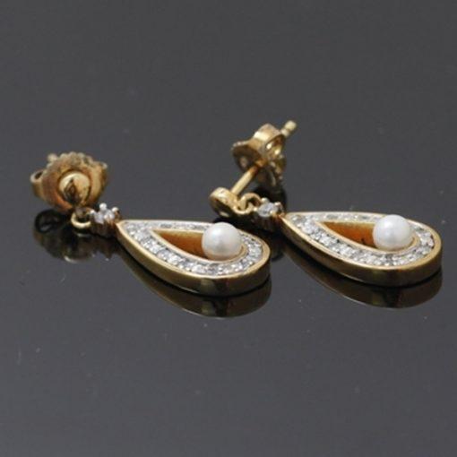 Pierre Cardin Marka İncili Damla Model Bayan Gümüş Küpe DX732