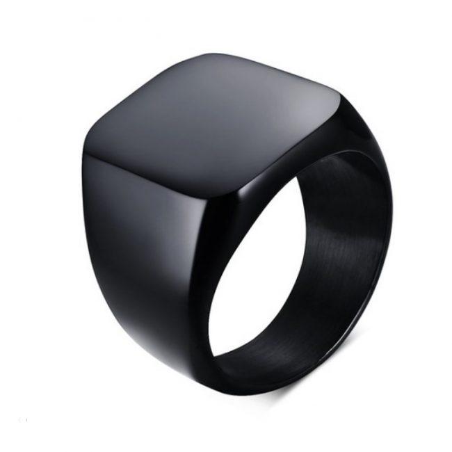 Siyah Rodajlı Modern Erkek Yüzük BX643