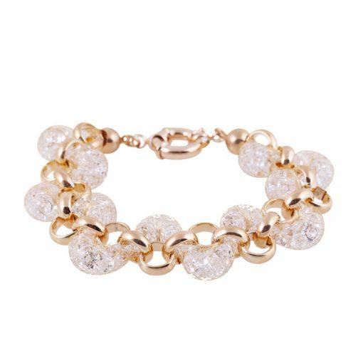 Zirkon Taşlı Rose Gold Modern Bayan Bileklik BX636