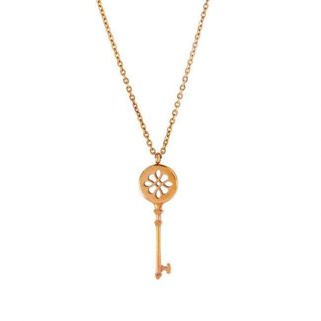 Anahtar Model Rose Gold Modern Bayan Kolye EX270