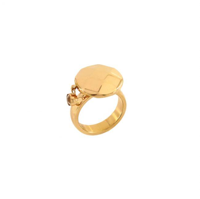 Zirkon Taşlı Rose Gold Modern Bayan Yüzük EX406