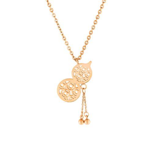 Rose Gold Modern Bayan Kolye EX417