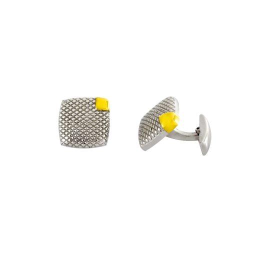 Altın Kaplamalı Modern Çelik Kol Düğmesi EX453