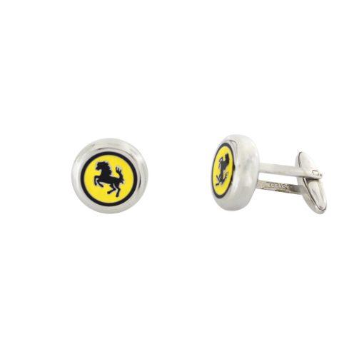 Ferrari Logolu Modern Çelik Kol Düğmesi EX460