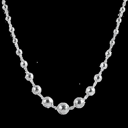 Beyaz Altın Kaplamalı Modern Bayan Gümüş Kolye EX541
