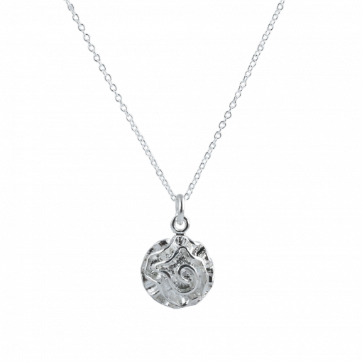 Gümüş Kaplama Gül Model Modern Bayan Kolye EX573
