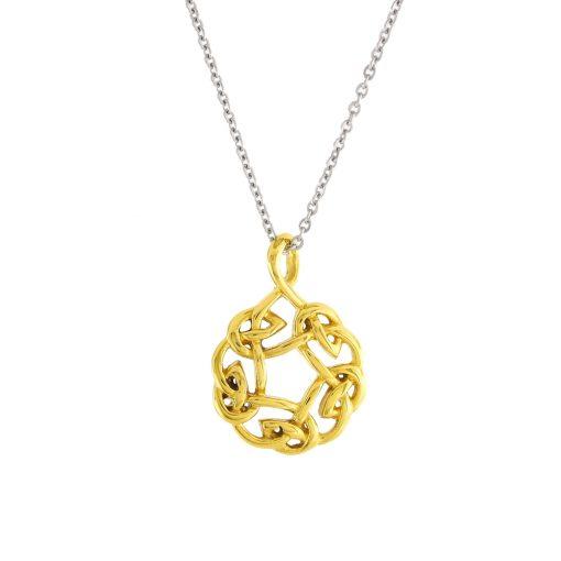 Altın Kaplamalı Modern Bayan Kolye EX615