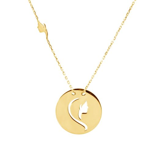Altın Kaplamalı Bayan Gümüş Kolye EX689