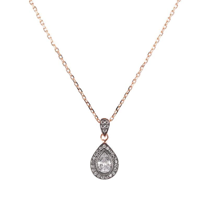 Elmas Model Kadın Gümüş Kolye G105