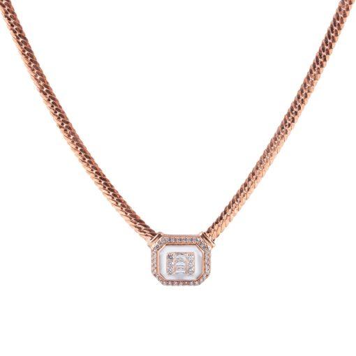 Zirkon Taşlı Kadın Gümüş Kolye G130