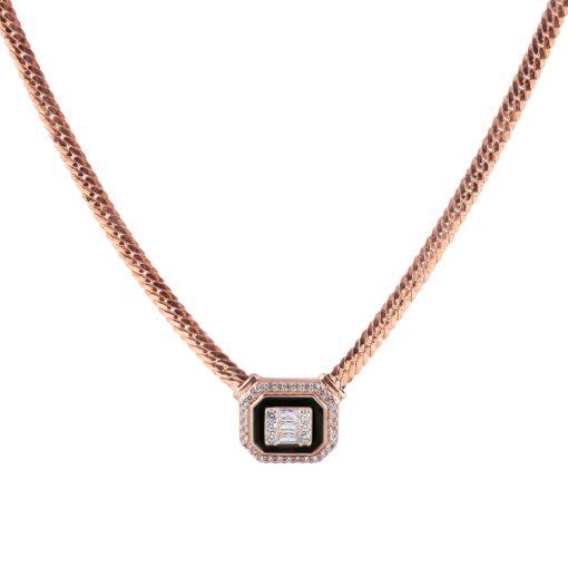 Zirkon Taşlı Kadın Gümüş Kolye G139