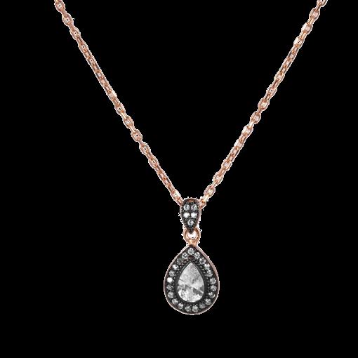 Elmas Model Gümüş Kadın Kolye GG014