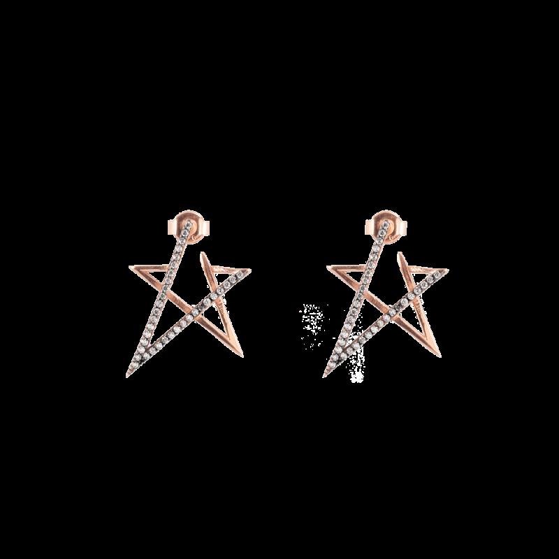 Yıldız Model Modern Gümüş Küpe GG024