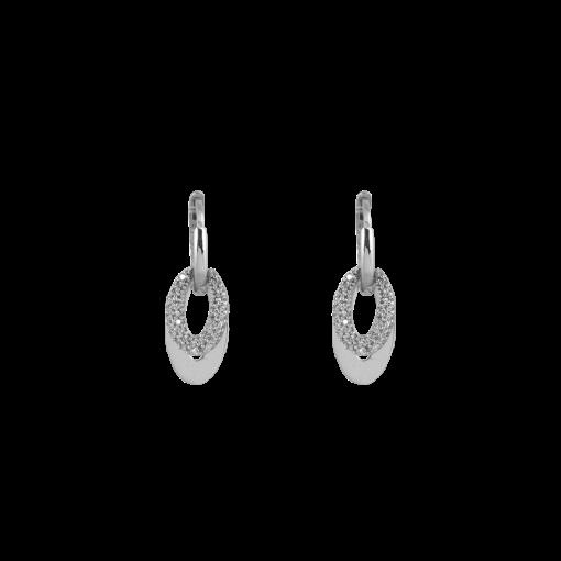 Zirkon Taşlı Modern Gümüş Küpe GG027