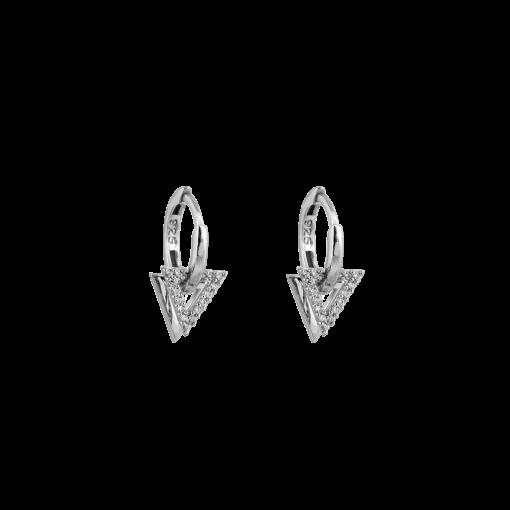 Zirkon Taşlı Modern Gümüş Küpe GG028