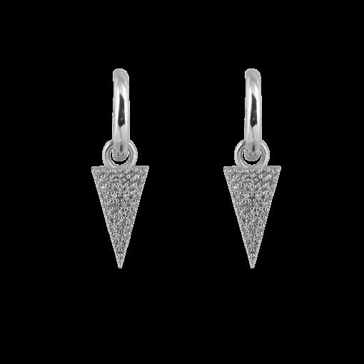 Zirkon Taşlı Modern Gümüş Küpe GG030