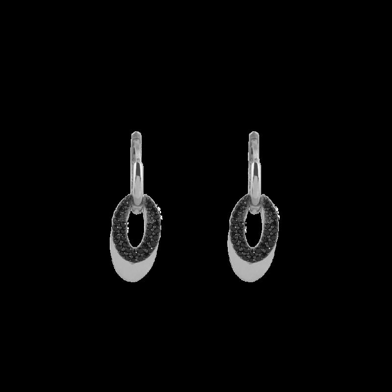 Zirkon Taşlı Modern Gümüş Küpe GG031