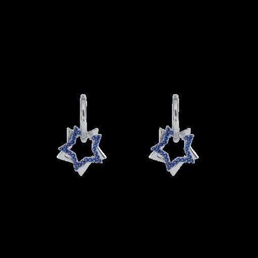 Zirkon Taşlı Modern Gümüş Küpe GG034