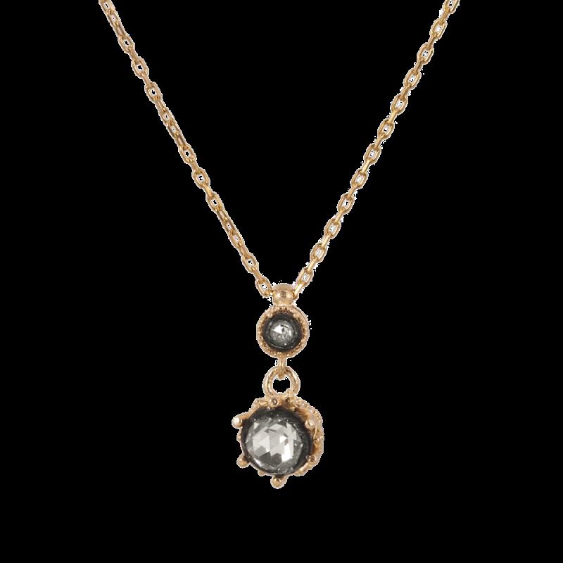 Elmas Model Gümüş Kadın Kolye GG041