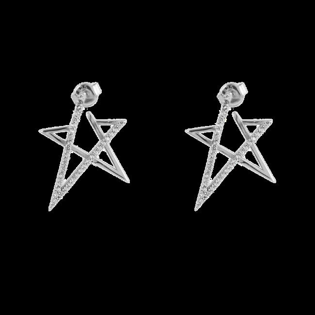 Yıldız Model Modern Gümüş Küpe GG005