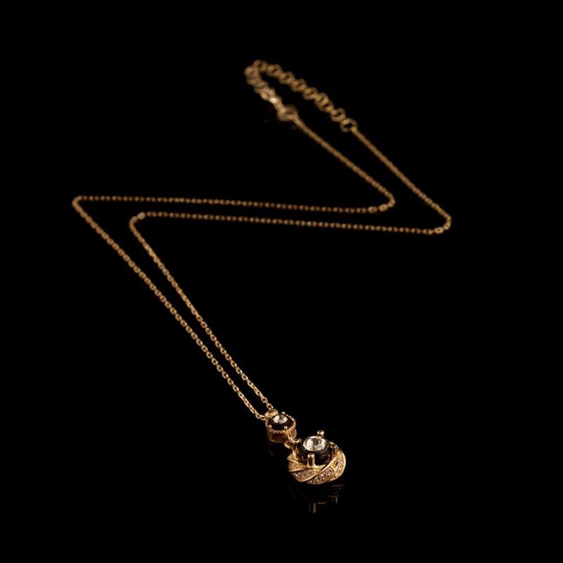 Elmas Model Gümüş Kadın Kolye GG053