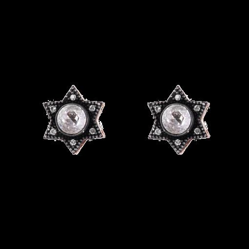 Elmas Yıldız Model Gümüş Kadın Küpe GG065